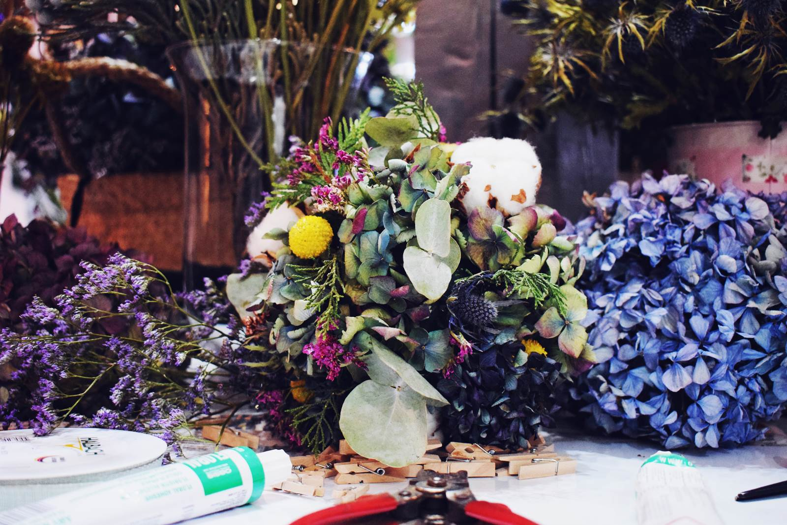 Atelier couronnes fleur photos chateaubriant