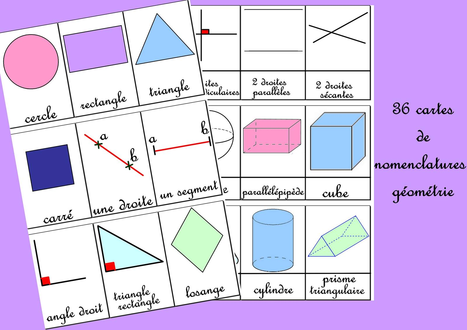 Blog 36 cartes de nomenclatures geometrie