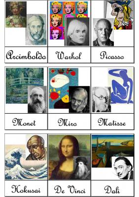Blog carte de nomenclature artistes peintre