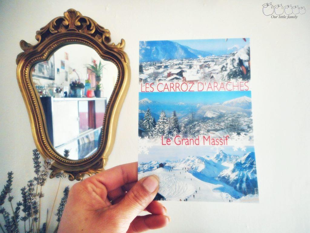 Carte postale bleu neige