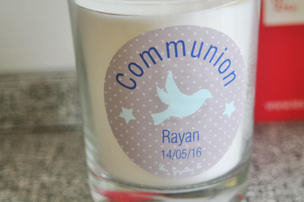 Les griottes bougie bapteme communion 6