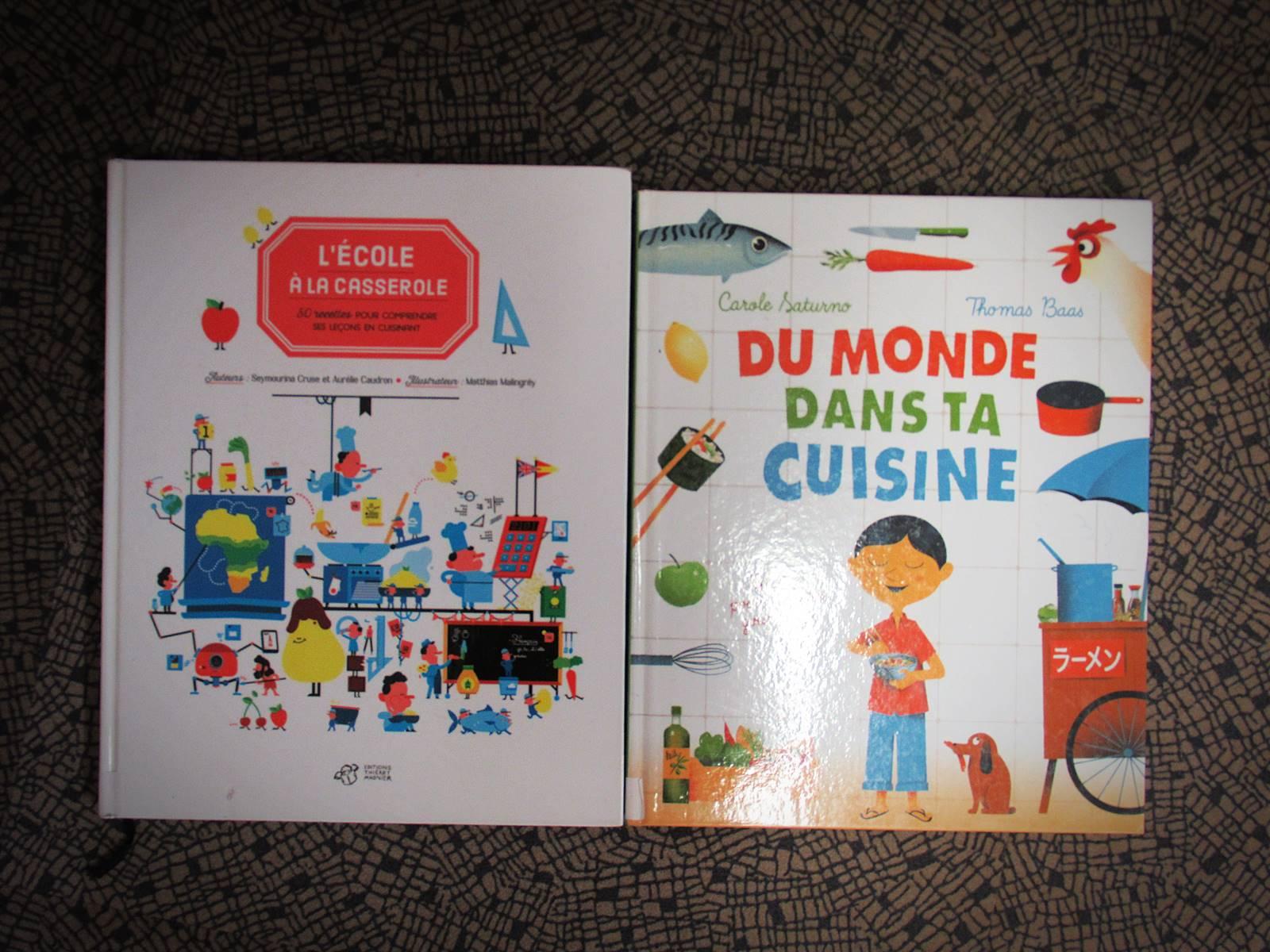 Livres pour cuisiner en apprenant le programme scolaire