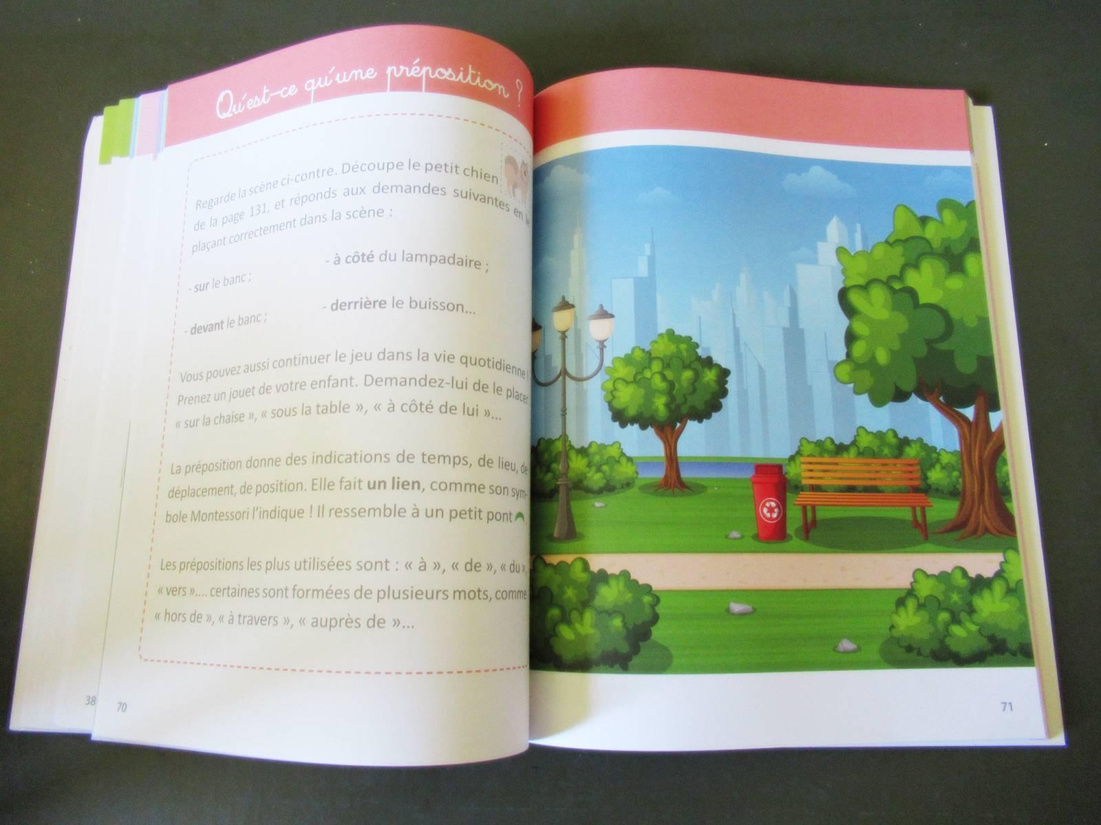 On a teste mon grand cahier montessori de grammaire 2