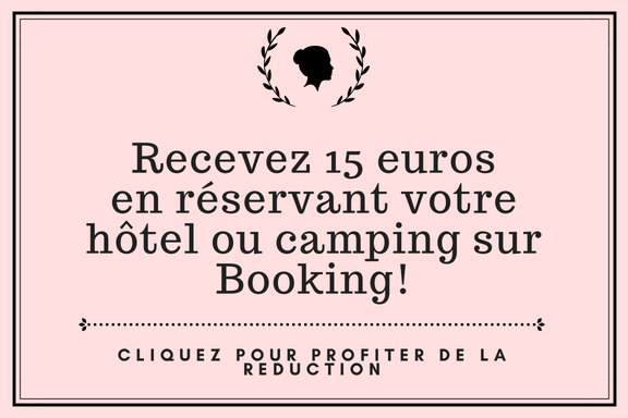 Recevez 15 eurosen reservant votre hotel ou camping sur booking