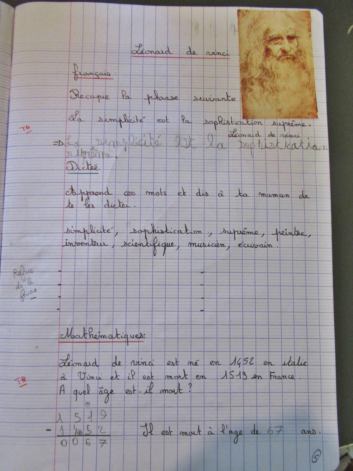 Travail pluridisciplinaire leonard de vinci 6