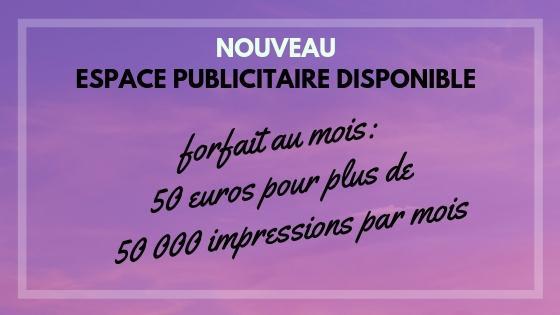 Votre publicite ici pour 50 euros par mois pour plus de 50000 impressions par mois 1