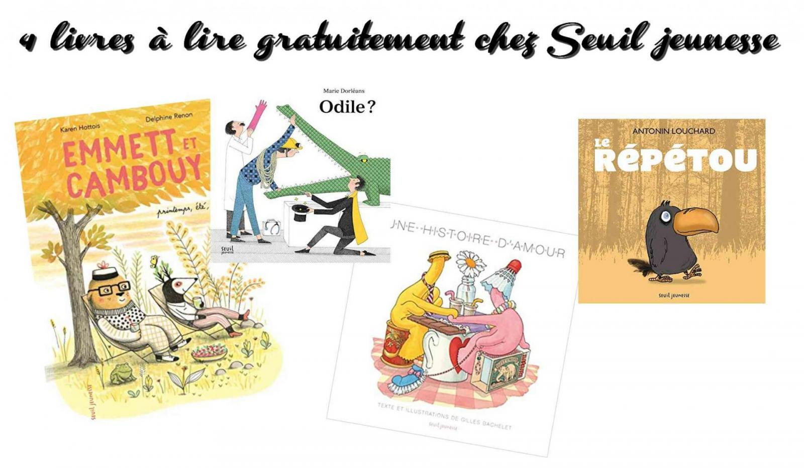 4 livres a lire gratuitement chez seuil jeunesse