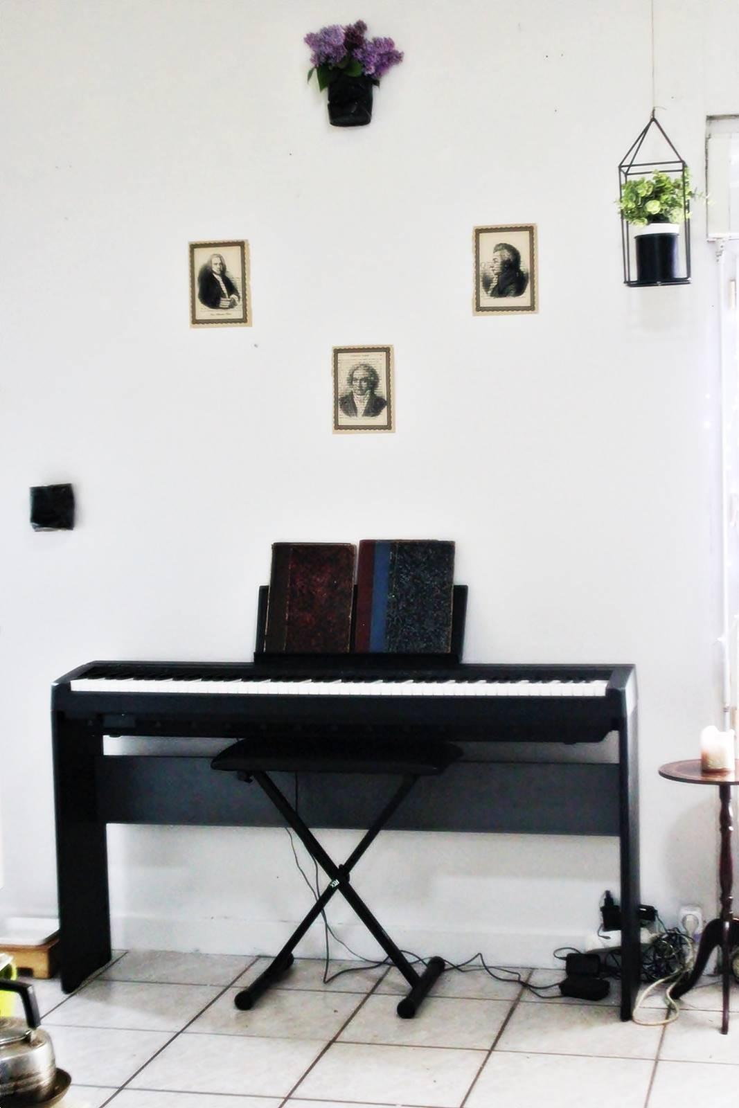 Decoration coin musique salon 11