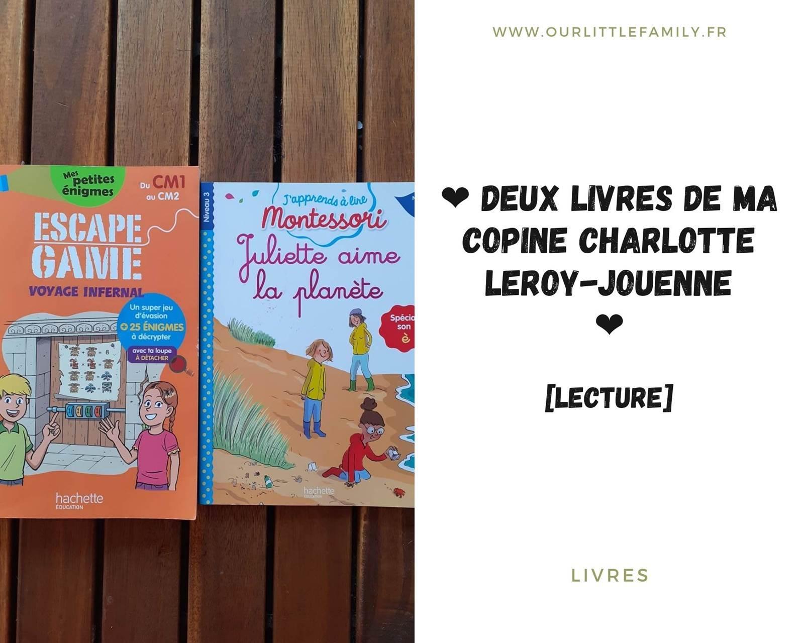 Deux livres jeunesse de charlotte leroy jouenne