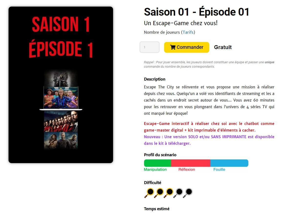 Escape the city saison 01