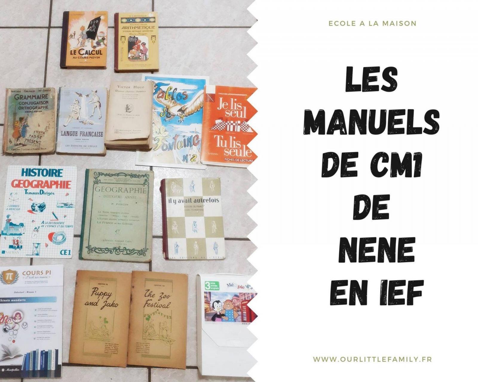 Les manuels de cm1 cm2 de nene en ief