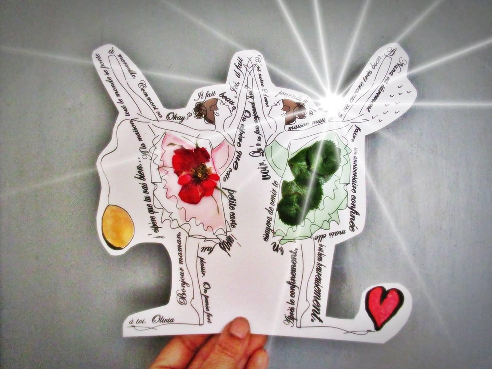 Petites danseuses carte postale diy 4