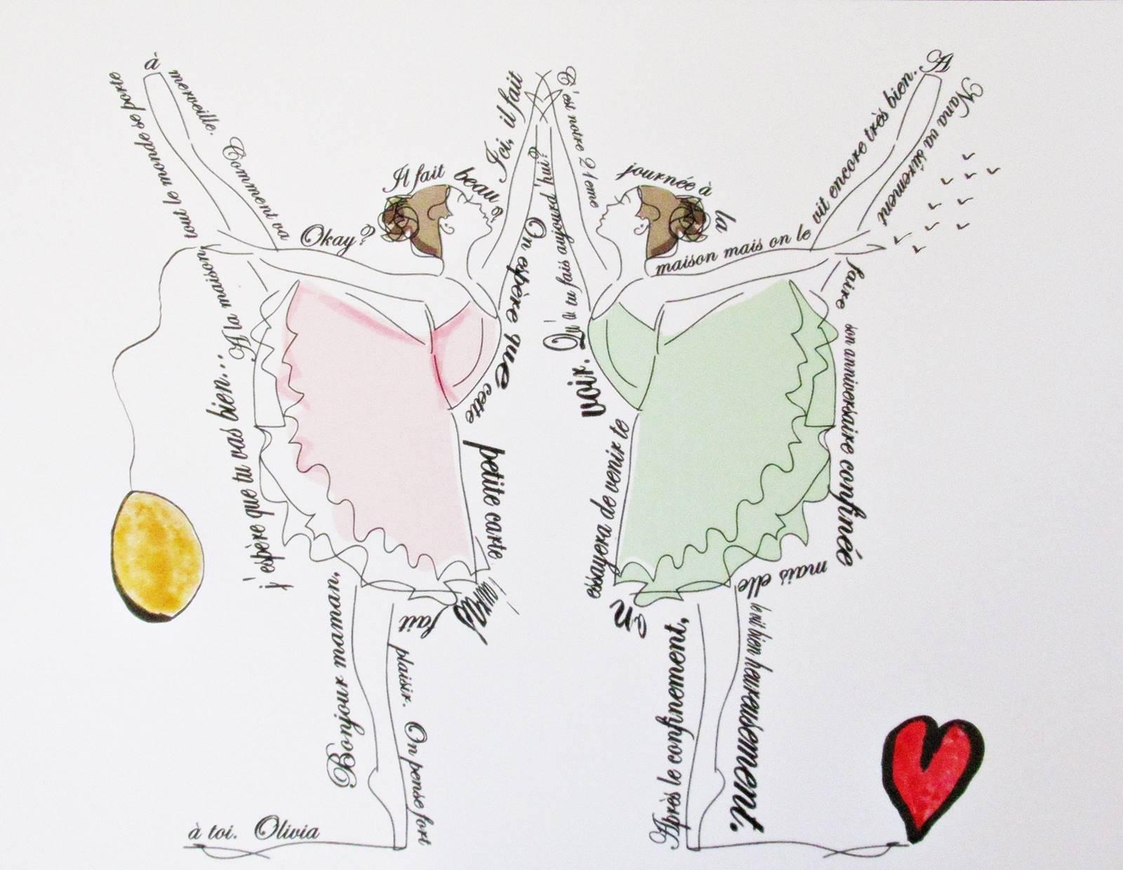 Petites danseuses carte postale diy