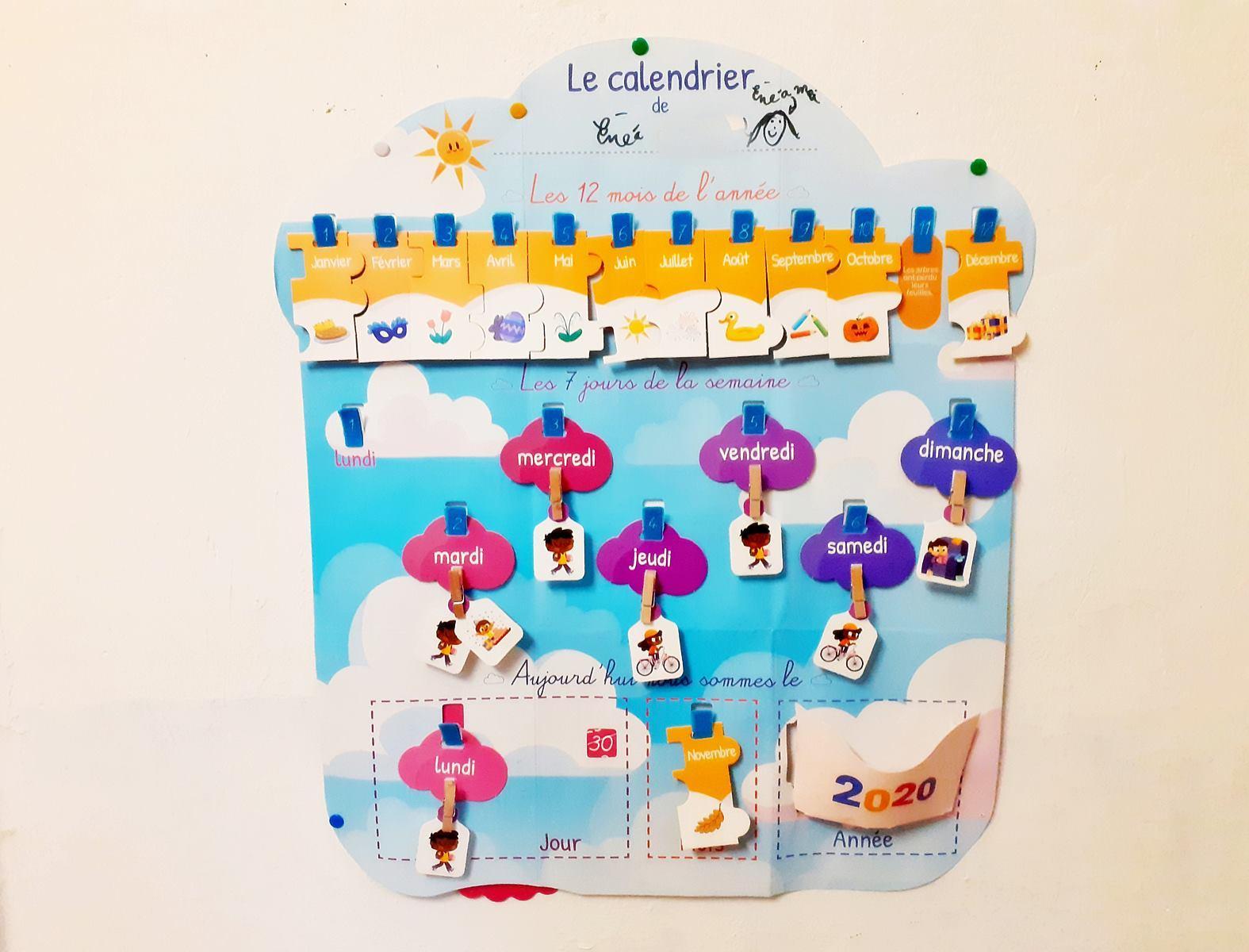 Un calendrier pour aider mon enfant a se reperer dans le temps tdha