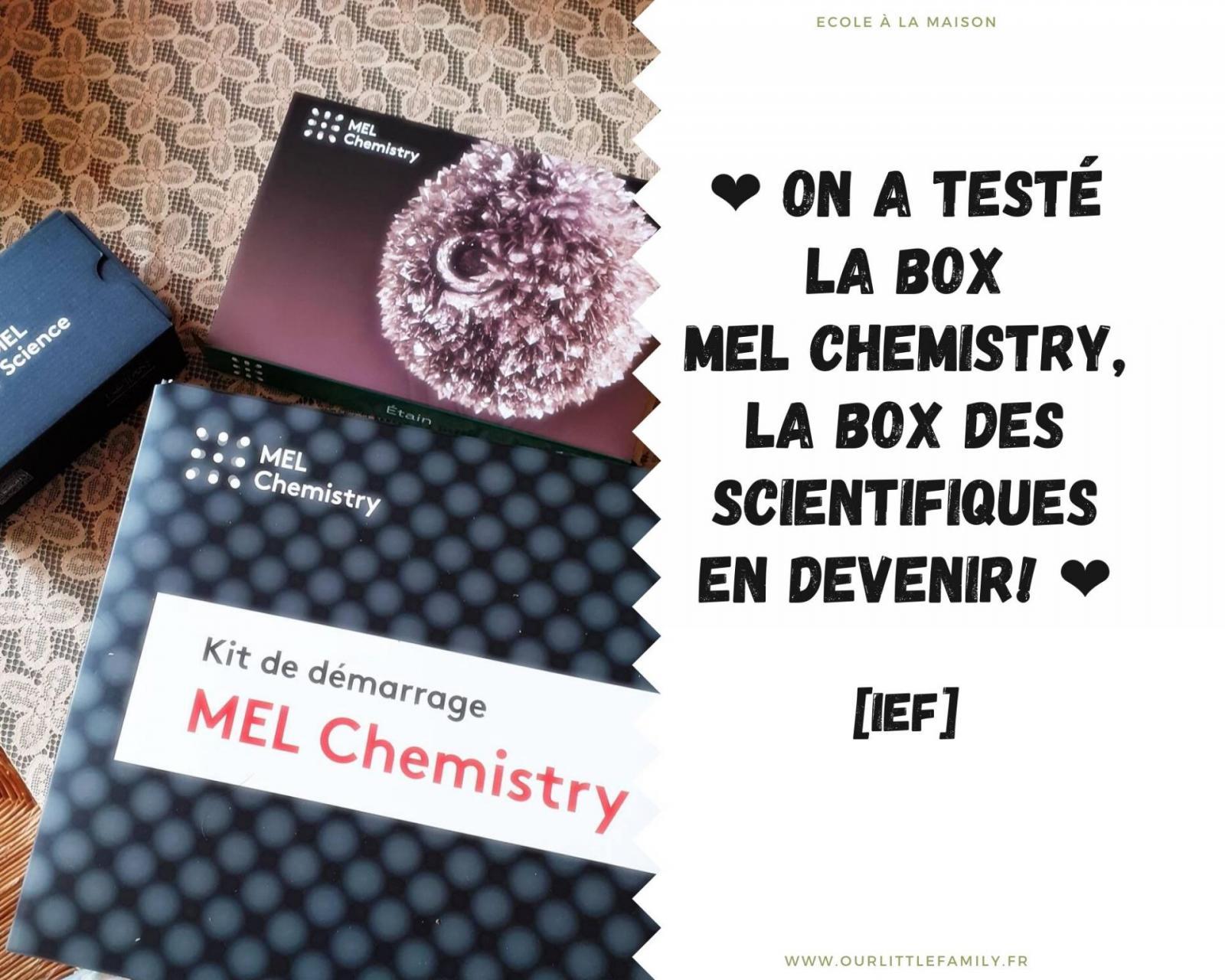 mel chemistry avis test